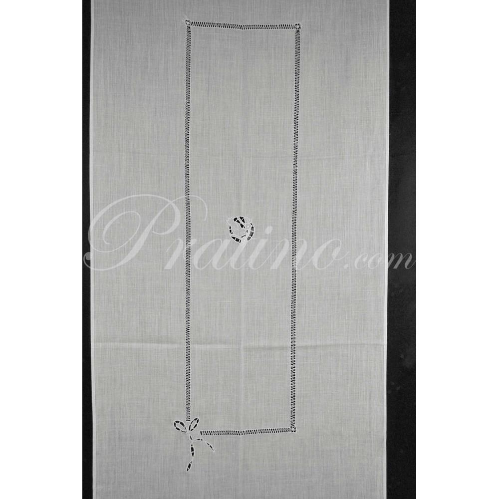 Tenda pannello ricamato floreale 330x65 intaglio - Tende per doccia in lino ...