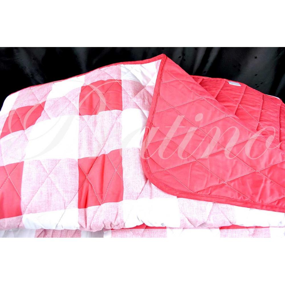 Copriletto trapuntato matrimoniale floreale bianco rosso 270x270 cotone tessitura toscana - Copriletto matrimoniale rosso ...