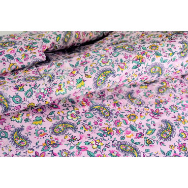 Double couvre-lit avec des Volants fantaisie rose