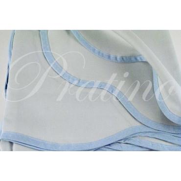 Double couvre-lit tintaunita céleste satin de coton