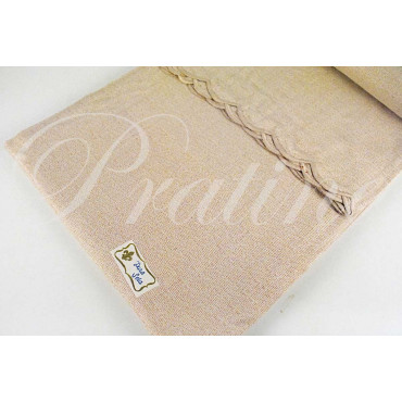 Double bedspread stripes + embroidery 100% Pure Silk 270x270