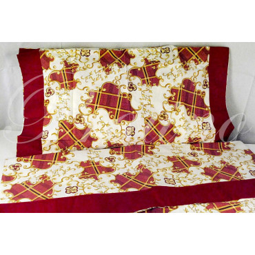 Sheets Standard Double Red Arabesque 250x280 Under the plan