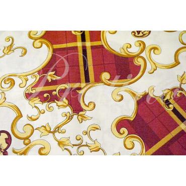 Copripiumino Singolo Rosso Fantasia Arabesque 155x200 +1Federe