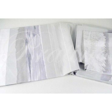 Duvet cover Double Light Grey Fancy Feathers 255x250 +2Federe