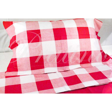 Sheets Double 2Piazze Red Paintings 240x290 Under the plan