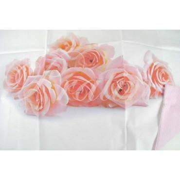 Completo Singolo 1Piazza Rose Rosa 150x290 sotto angoli 90x200 +1Federa