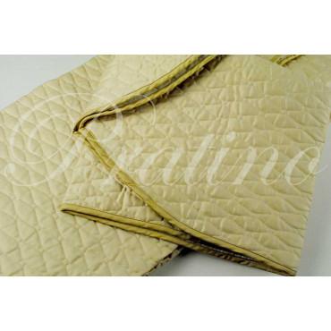 Quilted bedspread 1Piazza Light Beige Tintaunita Cotton Satin 180x290 padding to enhance the diamond