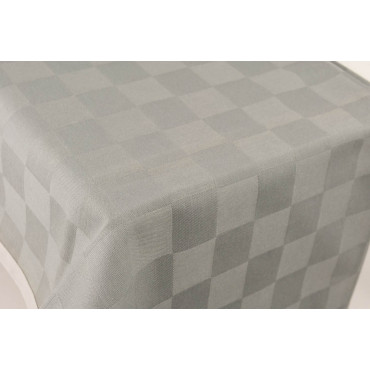 Rectangular Tablecloth x12 Gray Checks Jaquard 270x180 Without Napkins 84010