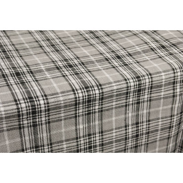 Tablecloth Rectangular x8 Pure Linen Grey Checkered 220x175 without Napkins
