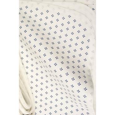 Tovaglia Rettangolare x12 Bianco Fantasia Shabby 270x180 +12 Tovaglioli