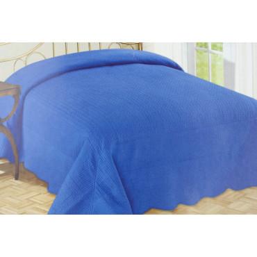 Edredón Acolchado Colcha de la Cama Tintaunita Azul 260x260 100% Puro Algodón