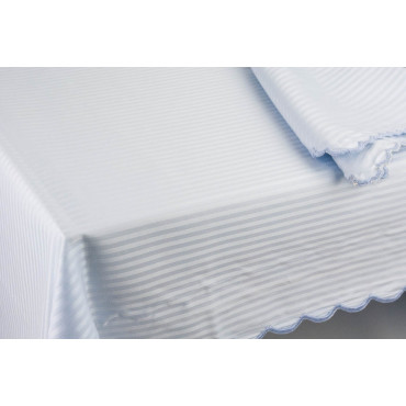 Tablecloth Rectangular x12 Heavenly Jacquard Lines 270x180 +12 Napkins 8083