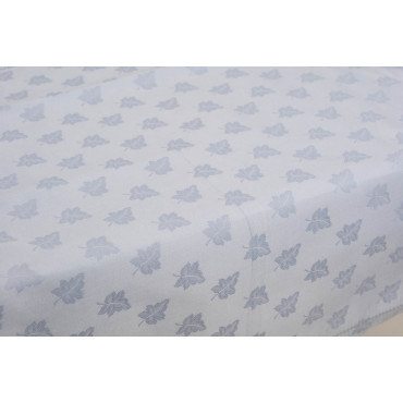 Rectangular Tablecloth x12 Light Blue Flanders Ivy 270x180 +12 Napkins 8085