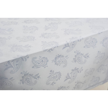 Rectangular Tablecloth x12 Celeste Flanders Jaquard 270x180 +12 Napkins 8082