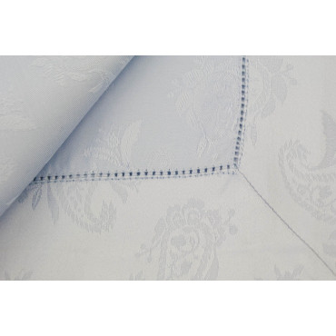 Rectangular Tablecloth x12 Celeste Flanders Jaquard 270x180 +12 Napkins 8082
