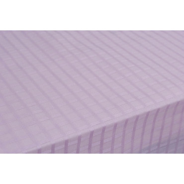 Tablecloth Rectangular x12 Organza Cotton Pink Squares +12 Napkins 270x180 8071