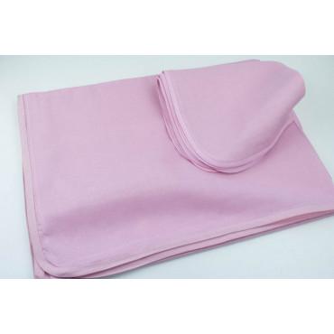 Rectangular Tablecloth x12 Pink Organza Cotton +12 Napkins 270x180 8091