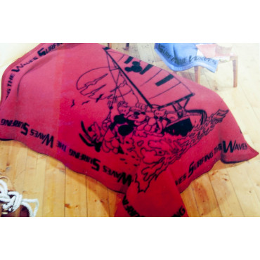 INDOOR Single 160x210 100% Pure Wool Mickey mouse Red