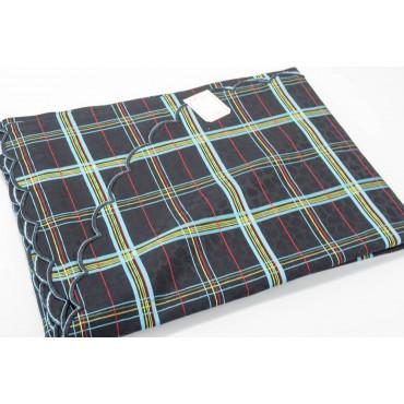 Double bedspread Satin Cotton Black Heavenly Scottish Paintings 270x270 Rebrodé