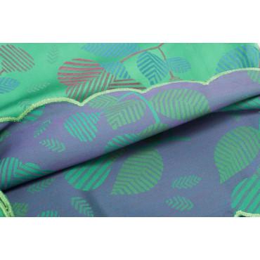 Doble colcha de Algodón de Satén Verde, Fucsia, Turquesa Flores 270x270 Isabel Rebrodé