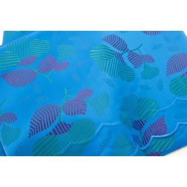 Double couvre-lit Satin de Coton Turquoise, Fuchsia Fleurs 270x270 Isabel Rebrodé