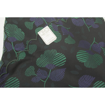 Double bedspread Satin Cotton, Black, bright pink Flowers and green 270x270 Isabel Rebrodé