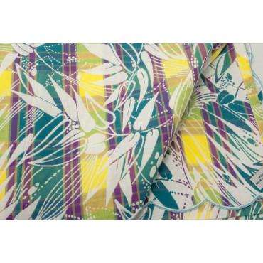Copriletto Matrimoniale Cotone Multicolore Fiori Righe 270x270 Siria Smerlo