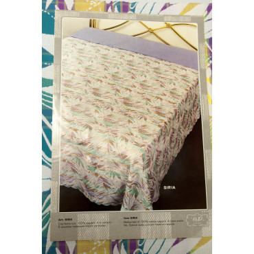 Doble colcha de Algodón Multicolor de Flores Filas 270x270 Siria Rebrodé