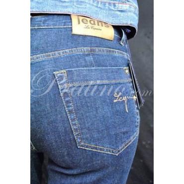 LES COPAINS Pantalone Jeans Vita Alta Donna 42 S Blue -  Gonne e Pantaloni