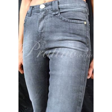 LES COPAINS Pantalone Jeans Vita Alta Donna 40 S Nero StoneWash -  Gonne e Pantaloni
