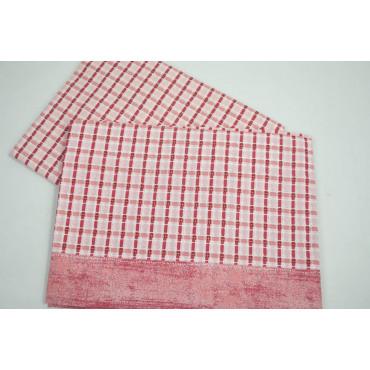 Completo Lenzuola Matrimoniale Quadri Melangè Rosso Rosa Sotto Angoli