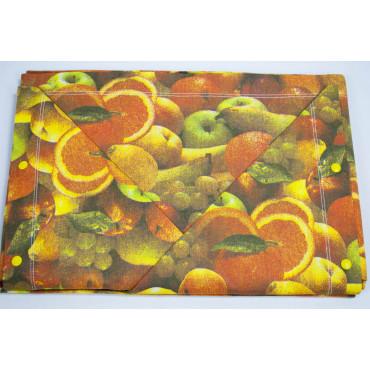 Completo Lenzuola Matrimoniale Frutta Colori Autunnali Sotto Angoli