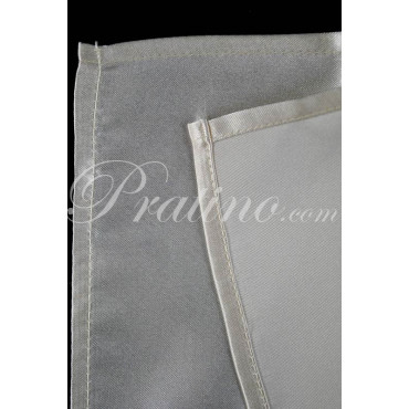 Pochette Fazzoletto Taschino Uomo Pura Seta TintaUnita Bianco Avorio -  Cravatte ed Accessori