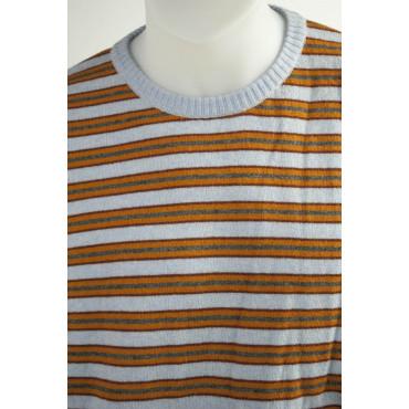 Jersey mens 56 3XL Stripes Blue Orange Grey Red - Cashmere