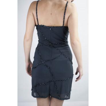Dress Women's Mini Dress Elegant M Blue - Crossroads of Beads and Sequins