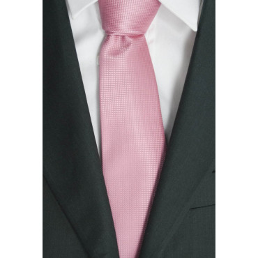 Pink tie Tintaunita Processing Small Squares - 100% Pure Silk - Made in Italy