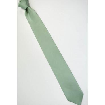 Cravatta Verde Tintaunita Lavorazione Righe Verticale Quadretti - 100% Pura Seta - Made in Italy