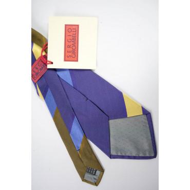 Cravatta Bronzo Regimental Viola - 100% Pura Seta - Sergio Girombelli