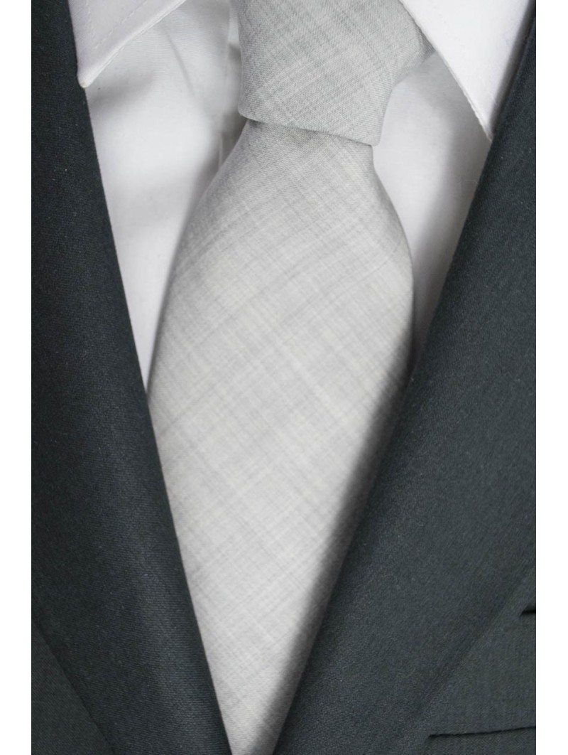 Tie Grey Chiato FilaFil Opaque - 100% Pure new Wool - Made in Italy