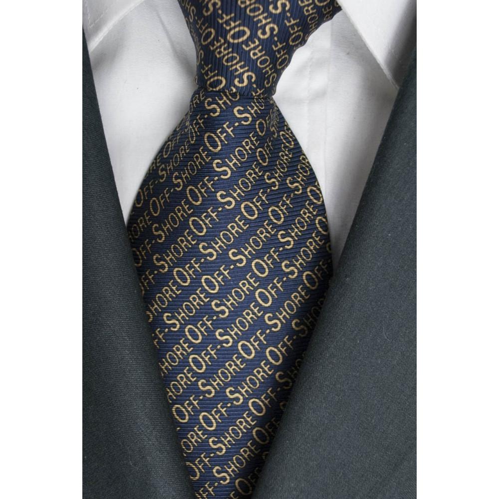 Tie Dark Blue Designs OffShore Lamborghini - 100% Pure Silk