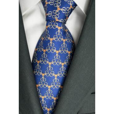Cravatta Blu Chiaro Piccoli Disegni Lamborghini  - 1020 - 100% Pura Seta