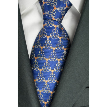 Tie Light Blue Small Drawings Lamborghini - 1020 - 100% Pure Silk