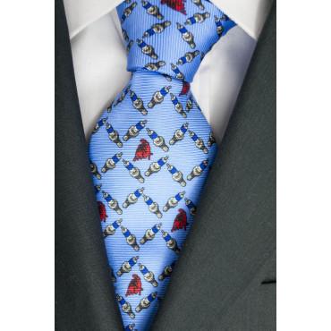 Krawatte im himmel Zeichnung, Kerzen und Stier Lamborghini - 1017 - 100% Reine Seide