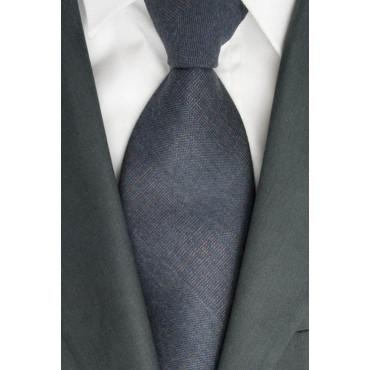 Cravatta Grigio Scuro Rif. Rosso Cacharel - 100% Pura Lana - Made in Italy