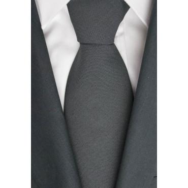 Krawatte 1° Classe Alviero Martini-dunkelgrau - 100% Wolle - Made in Italy