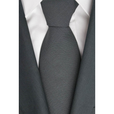 Tie 1° Classe Alviero Martini, Dark Gray - 100% Pure new Wool - Made in Italy
