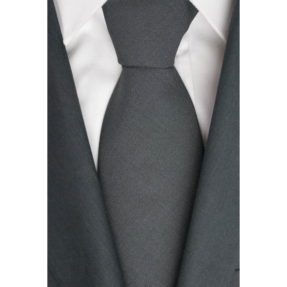 Cravatta 1° Classe Alviero Martini Grigio Scuro - 100% Pura Lana - Made in Italy