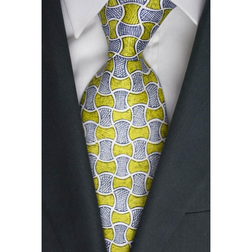 Cravatta Oliver Valentino Fantasia Verde Pistacchio - 100% Pura Seta