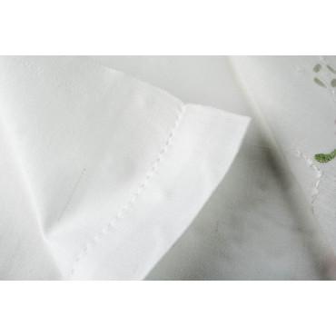 Lenzuola Matrimoniali Ricamo a Mano Fiorellini - Madeira 001 - Percalle di Cotone