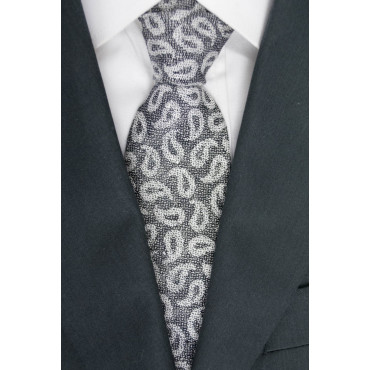 Tie Grey Designs Cashmere - GianMarco Venturi - 100% Pure Silk